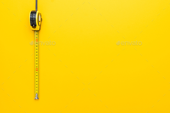 Tape Measure On The Yellow - Stock Photo - Images