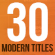 30 Modern Titles & Lower Thirds - Mogrt - VideoHive Item for Sale