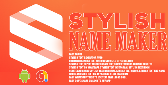 Stylish Name Maker   Android App   Admob Ads
