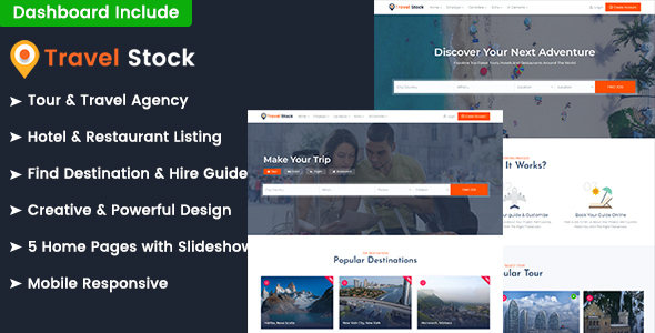 Travel Stock - Tours Listings & Booking HTML Template