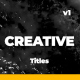 Minimal and Creative Titles - VideoHive Item for Sale