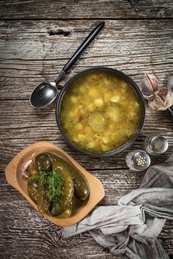 Vegetarian cucumber soup. - Stock Photo - Images