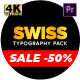 Swiss Typography Pack - for Premiere Pro   Essential Graphics - VideoHive Item for Sale