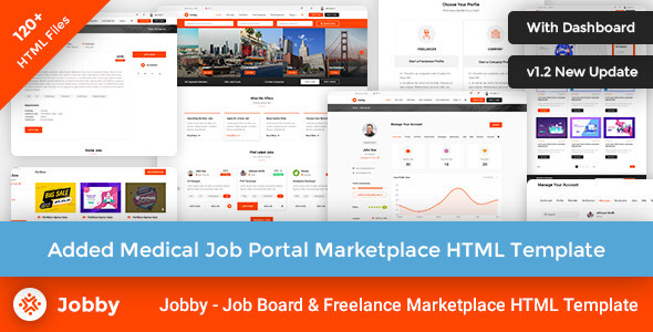 Jobby - Job Portal Multi-Purpose Marketplace HTML Template