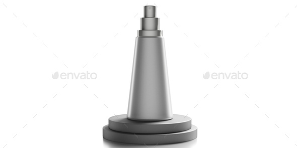 Blank cosmetic spray isolated on white background. 3d illustration - Stock Photo - Images