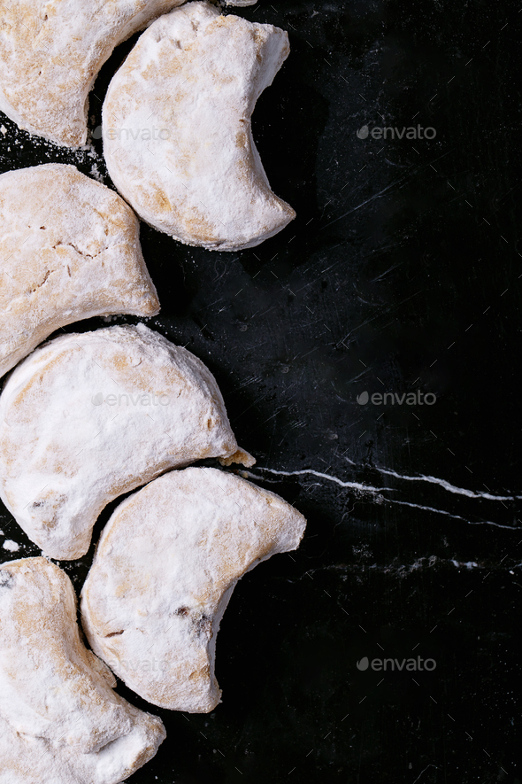 Variety of traditional Greek sweets cookies - Stock Photo - Images