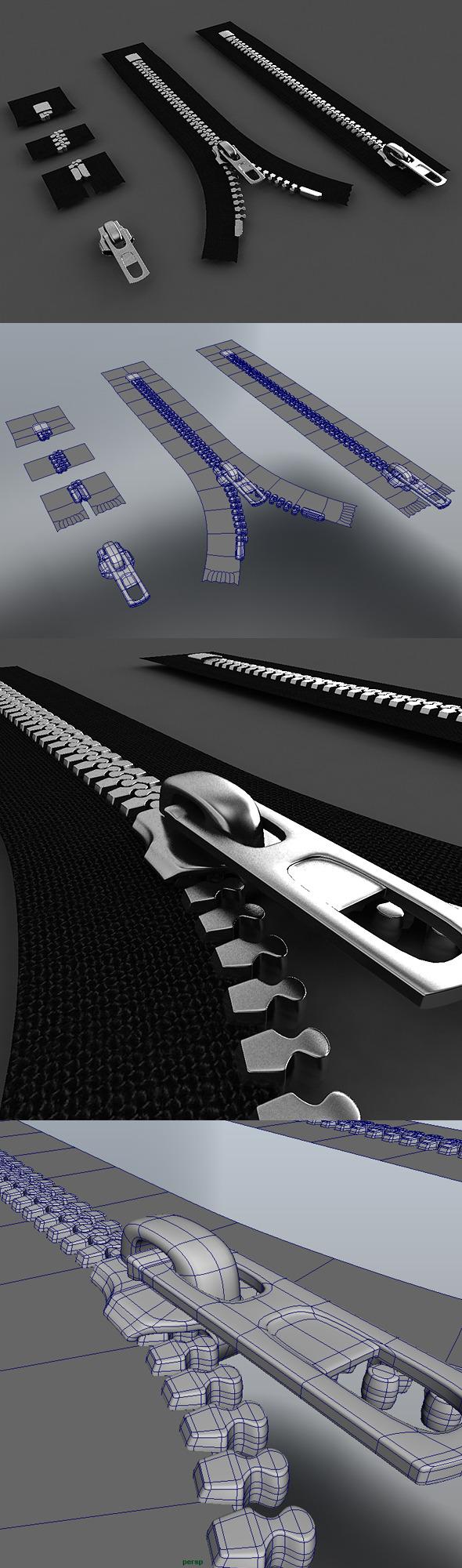 Zipper Construction Kit - 3DOcean Item for Sale