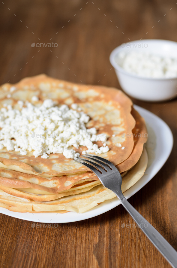 homemade pancakes - Stock Photo - Images
