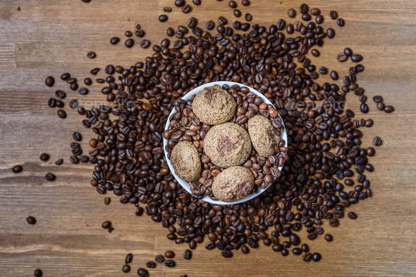 coffee cookies - Stock Photo - Images
