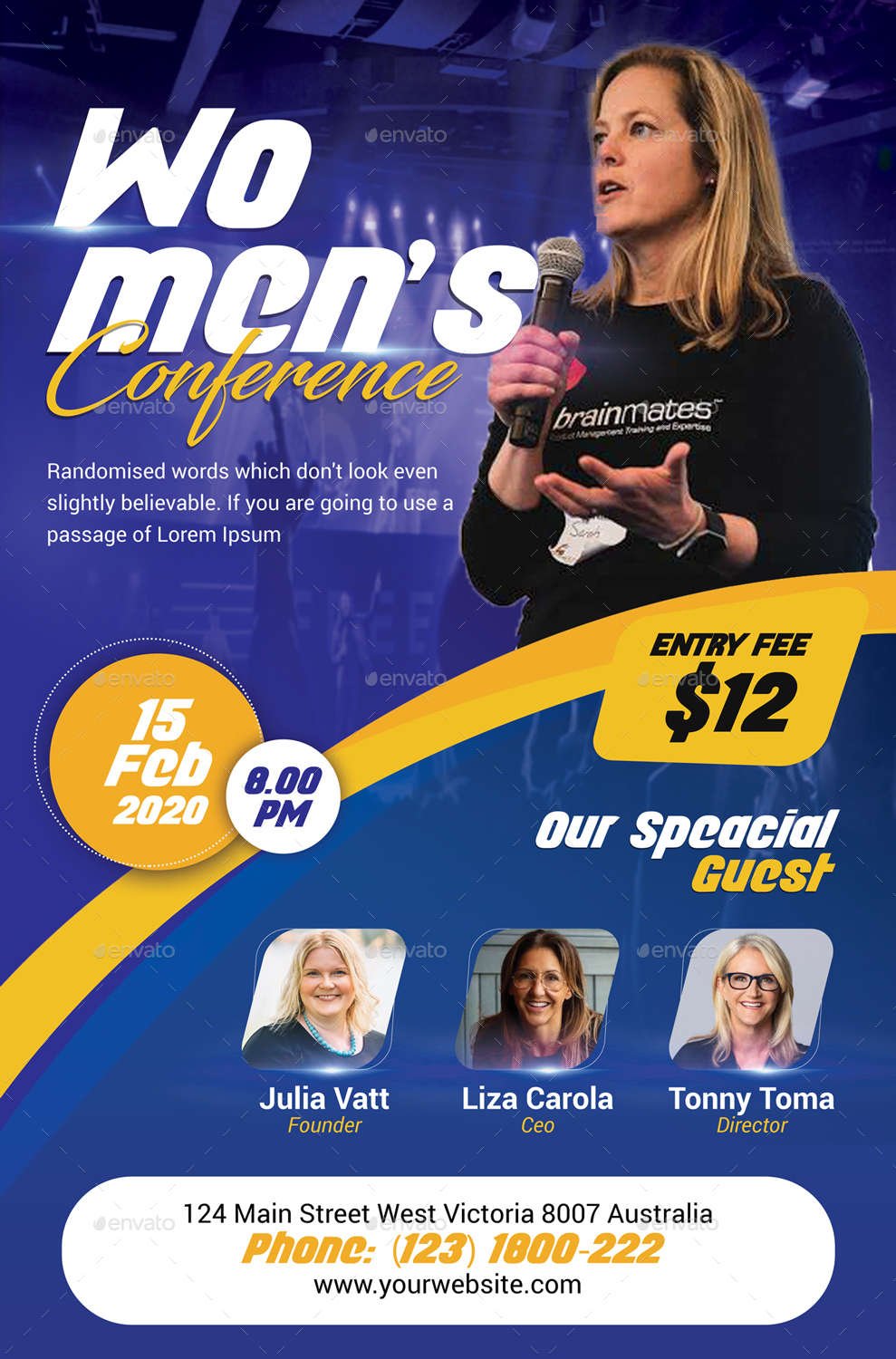 Women's Conference Poster Template
