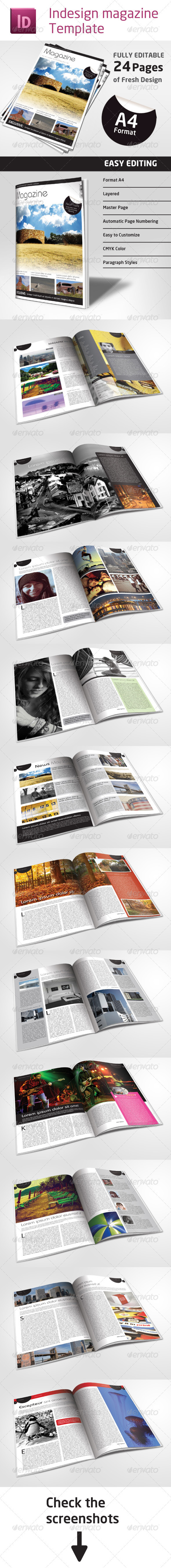 24 Pages Magazine Template in A4 Format by Grga_atree | GraphicRiver