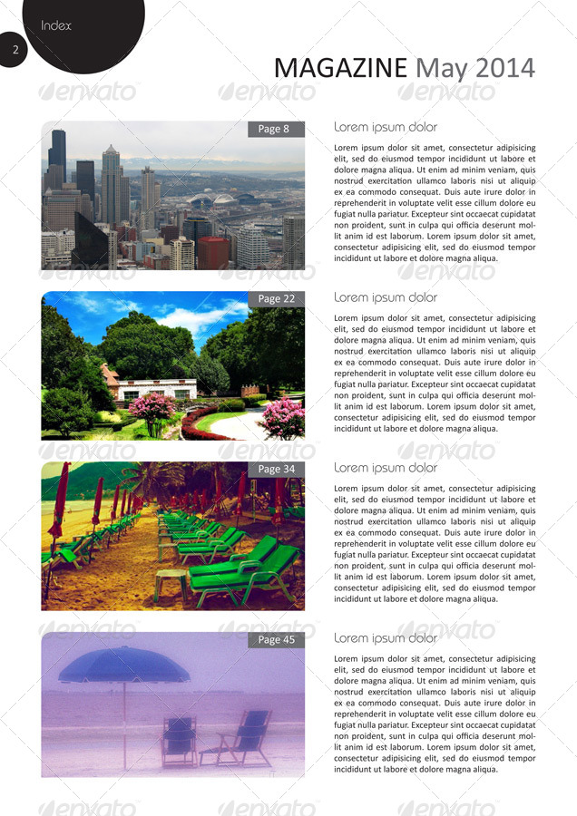 24 pages magazine template in a4 format by grga atree for Magazine templates for pages