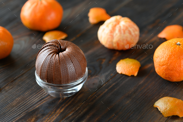 Dark chocolate orange - Stock Photo - Images