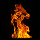 Fire flames on black background - PhotoDune Item for Sale