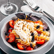 Pasta fusilli with cherry, mozarella and basil - PhotoDune Item for Sale