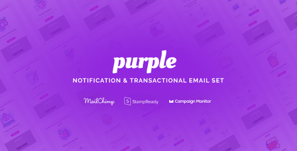 Purple - Notification & Transactional Email Templates by Psd2Newsletters