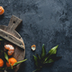 Fresh orange mandarin on wooden cutting board. eco vegetarian. PNOV2019 - PhotoDune Item for Sale