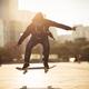 skateboarding at sunset city - PhotoDune Item for Sale