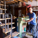 Portrait Of Man In Workshop Upcycling And Working On Fire Surround - PhotoDune Item for Sale