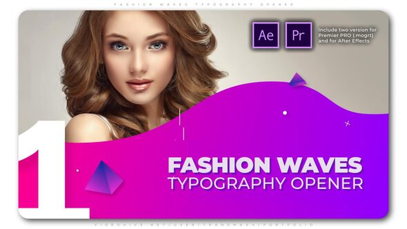 Fashion Waves Typography Opener