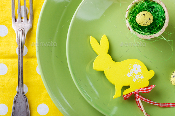 Easter table setting. - Stock Photo - Images