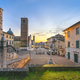 Pietrasanta old town view at sunset, Versilia Lucca Tuscany Italy - PhotoDune Item for Sale