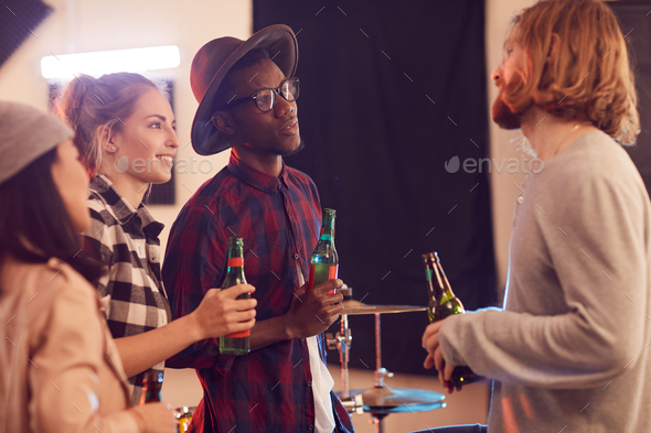 Group of Friends Drinking Beer - Stock Photo - Images