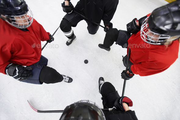 Hockey Team Top View - Stock Photo - Images