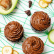 Chocolate zucchini banana cupcakes with chocolate avocado banana peanut butter cream frosting - PhotoDune Item for Sale