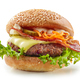burger on white background - PhotoDune Item for Sale