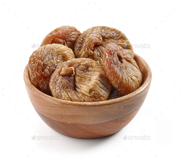 bowl of dried figs - Stock Photo - Images