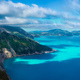 Picturesque rocky coastline on Kefalonia island. Amazing landscape with cloudscape and shadows on - PhotoDune Item for Sale