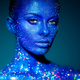 Portrait of beautiful woman with sparkles on her face - PhotoDune Item for Sale