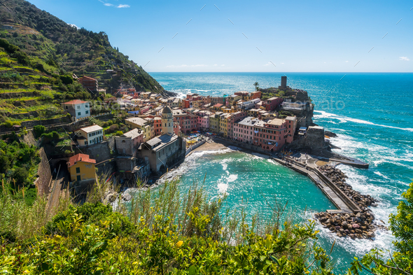 Cinque Terre in Italy - Stock Photo - Images