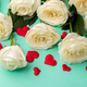 White Rose Bouquet.Holiday Day Valentine ,Birthday,Greeting Card,Gift. - PhotoDune Item for Sale