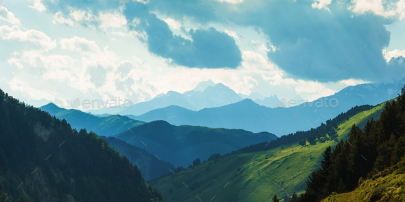 Panorama of beauty mountains - Stock Photo - Images