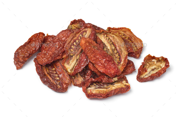 Heap of sundried tomatoes - Stock Photo - Images