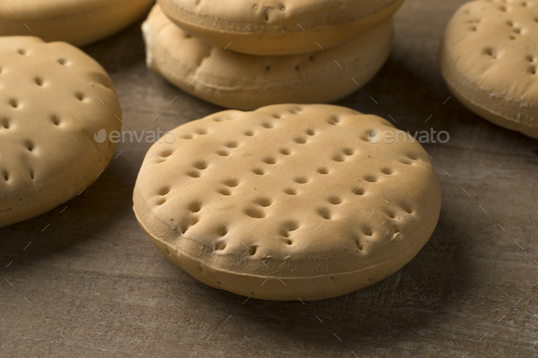 Whole hardtack as snack - Stock Photo - Images