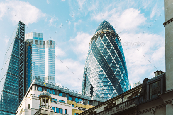 London Citys skyscrapers - Stock Photo - Images