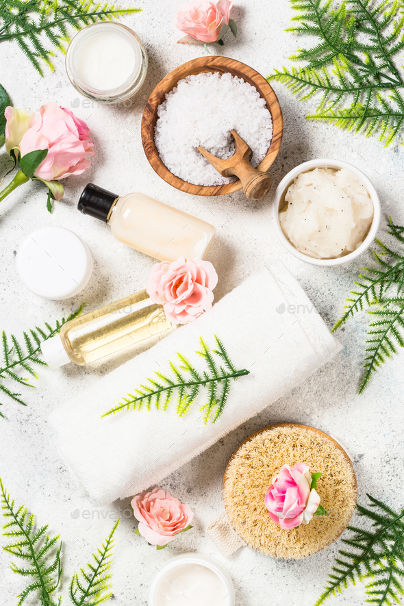 Natural cosmetic product, wellness and spa product - Stock Photo - Images