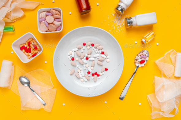 Drug abuse and medical overuse concept - Stock Photo - Images