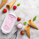 Homemade sweet strawberry ice cream - PhotoDune Item for Sale