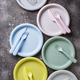 Colorful plastic dishes for summer picnic - PhotoDune Item for Sale