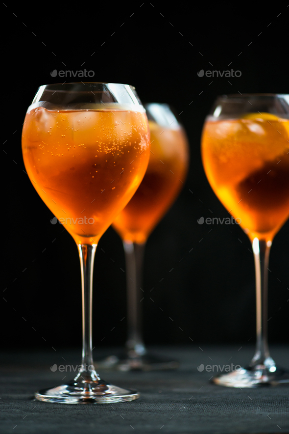 Summer Refreshing Aperitif Drink Aperol Spritz - Stock Photo - Images