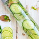 Detox Infused Water with Cucumber, Lime and Mint in Bottle - PhotoDune Item for Sale