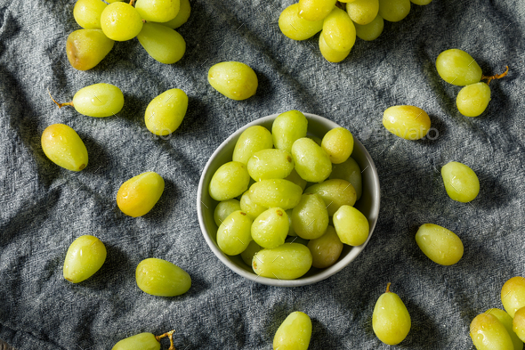 Organic Raw Green Grapes - Stock Photo - Images