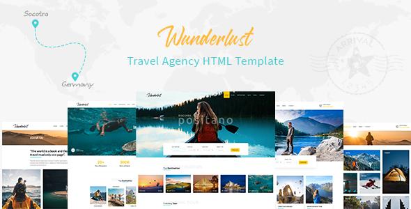 Wunderlust - Travel Tour HTML Template