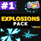 2D Explosion Elements | FCPX - VideoHive Item for Sale