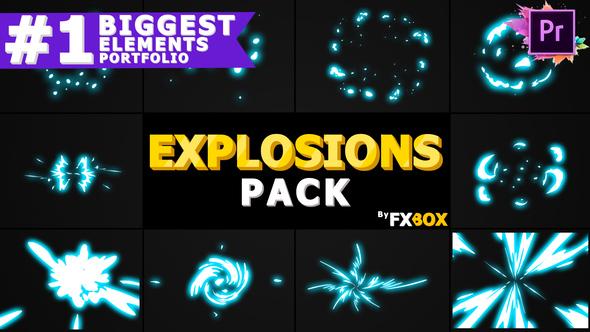 2D Explosion Elements | Premiere Pro MOGRT