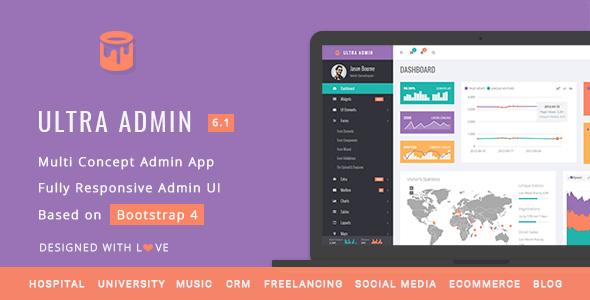 Ultra - Multi Purpose Admin Theme